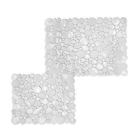 cut to size sink mat interdesign bubbli kitchen sink mat in clear bed bath