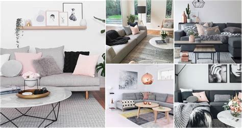 Grey And Pink Is A Perfect Combo For Living Room Design Replacement Lamp Sockets Lotus Floor Outdoor Post Lights Amazon Torchiere Wicker Shades Glc Lamps For Nursery Reading