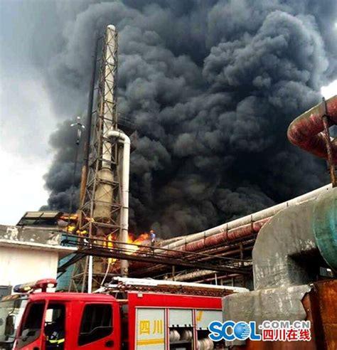 宜宾江安某化工厂着火 包装库一烧而光 无人员伤亡 火灾 宜宾 化工厂_新浪新闻