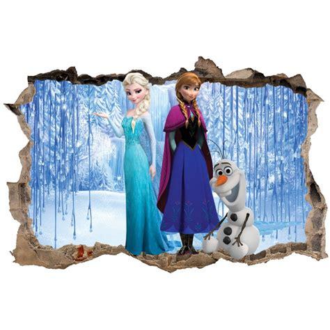 stickers muraux reine des neiges stickers trompe l oeil frozen la reine des neiges r 233 f 23232 stickers muraux enfant