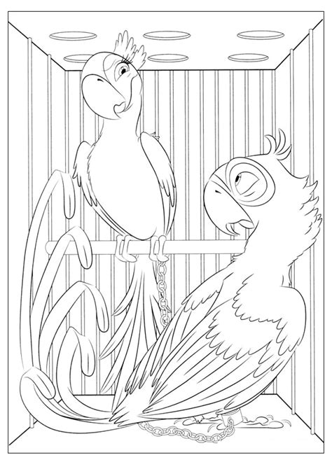rio  coloring pages    print