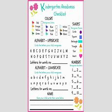 Preschool Readiness Checklist