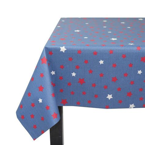 wipe clean table cloth wipe clean tablecloth stars in red and blue denim from 55 00