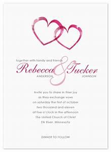 wedding invitations two hearts at mintedcom With wedding invitations with hearts designs