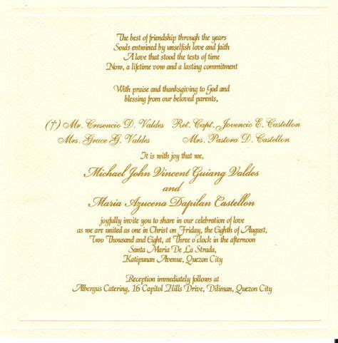 GOLD ink (With images) Christian wedding invitations