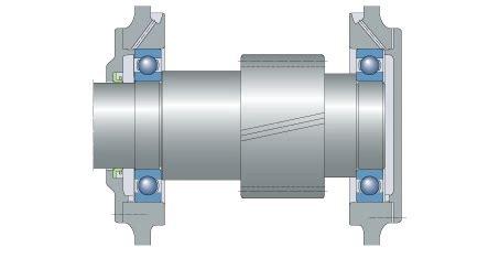 floating bearing arrangement bearing tips
