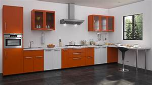 orange modular kitchen design straight kitchen designs With kitchen colors with white cabinets with how to get free nike stickers