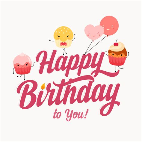 cupcakes birthday card  island