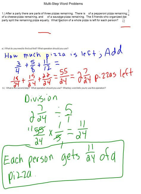 Multistep Word Problems  Ppt Download