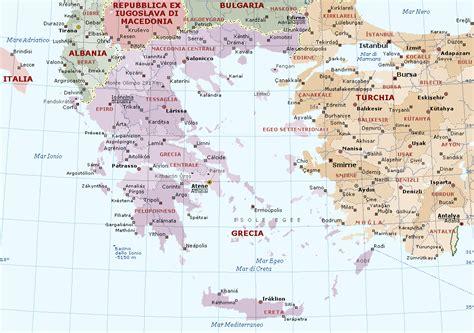 porti della grecia grecia mappa politica