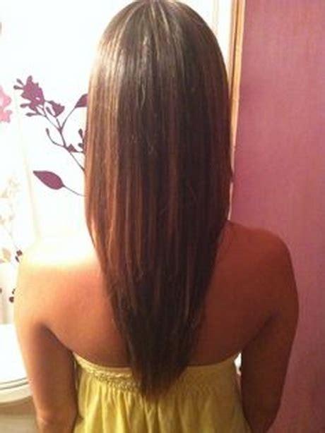long layered  shaped haircut