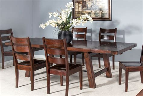 extension tables dining room furniture vineyard rustic extension dining table designs