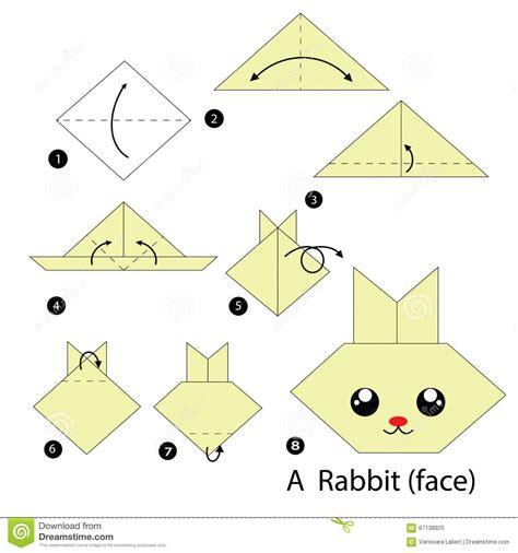 Comment Faire Des Origamis 233 Par 233 Comment Faire 224 Origami Un Lapin Illustration De Vecteur