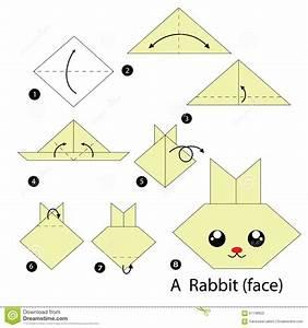 Faire Des Origami : instructions tape par tape comment faire origami un lapin illustration de vecteur ~ Nature-et-papiers.com Idées de Décoration