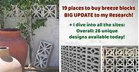 where to buy cinder blocks 19 companies that sell breeze blocks -- May 2019 UPDATE