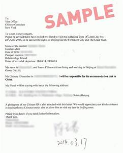 chinese visa letter of invitation sample invitation librarry With invitation letter for visitor visa china
