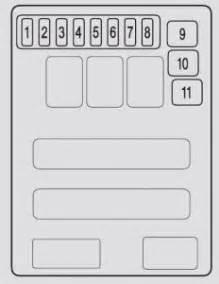Acura Mdx  2007 - 2008  - Fuse Box Diagram