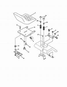 Seat Assembly Diagram  U0026 Parts List For Model 917258681 Craftsman