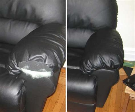 settee repairs leather furniture repairs color matching before and after