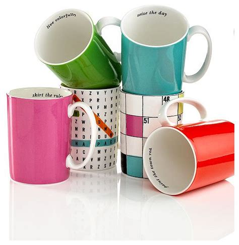 Kate Spade New York Mugs, Say the Word Collection   Contemporary   Mugs   by Macy's