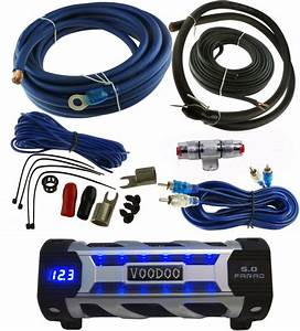Voodoo Car Audio 5 Farad Digital Power Capacitor Blue