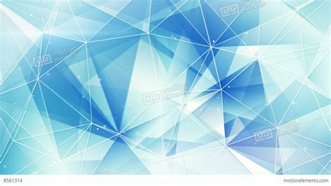 Blue And White Triangles Web Pattern Loopable 4k