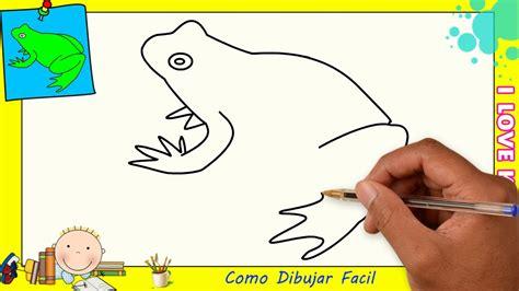 Como dibujar una rana FACIL paso a paso para niños y