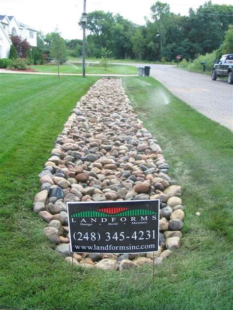 drainage ditch solutions creative drainage solutions traditional landscape detroit by landforms
