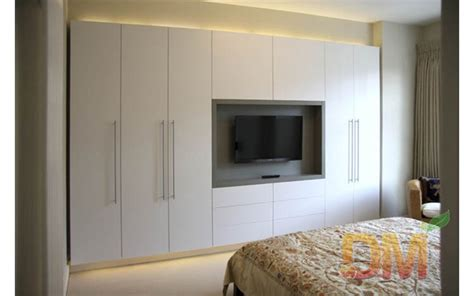 china hight gloss bedroom set built in wardrobe with tv