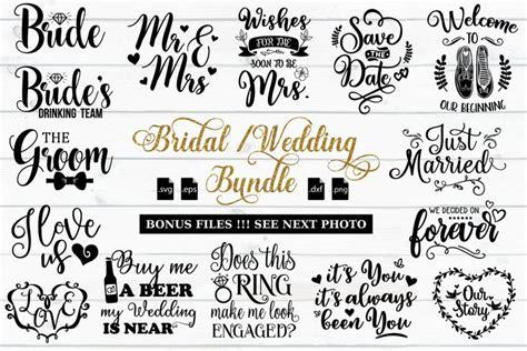 bridal  wedding quotes bundle svg eps dxf png