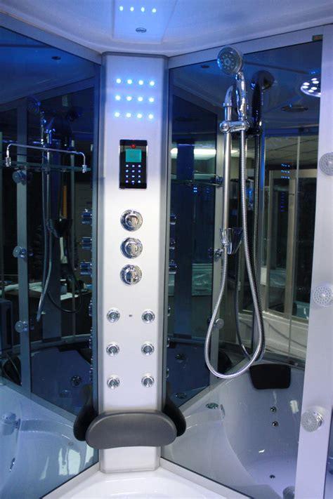 Tub In Shower - big steam shower room w whirlpool tub heater