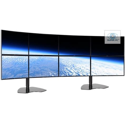 vga support with led pc eight monitor array with 8 x curved syncmaster