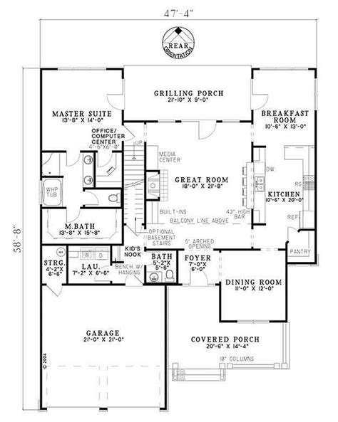 Craftsman Style House Plan 4 Beds 3 Baths 2470 Sq/Ft