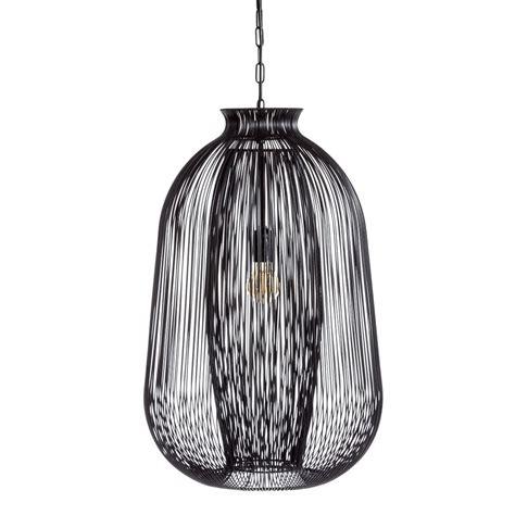 Lámpara de techo para salón de metal negra moderna para