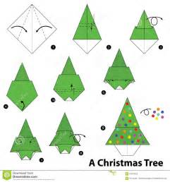 step by step instructions how to make origami a christmas tree stock vector image 67513322