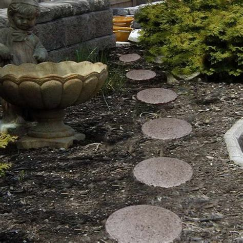 bloombety stepping stones with decorative