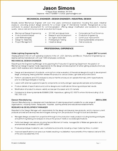 4 mechanical technician resume sle free sles