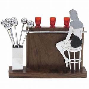 "Art Deco ""Lady at the Bar"" Cocktail Set at 1stdibs"