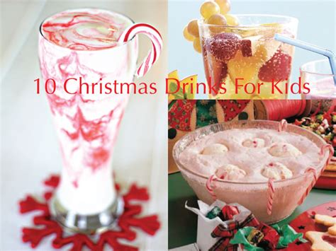 10 non alcoholic drinks for kids this christmas