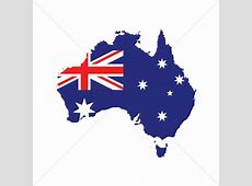 Australia flag on map Vector Image 1961259 StockUnlimited