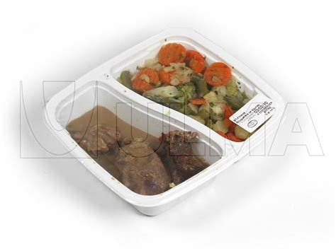 Modified Atmosphere Packaging Cooked by Cooked Beef Stew And Vegetables In Traysealing With