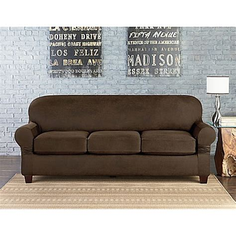 individual cushion 3 seat sofa slipcover sure fit vintage faux leather individual cushion 3 seat