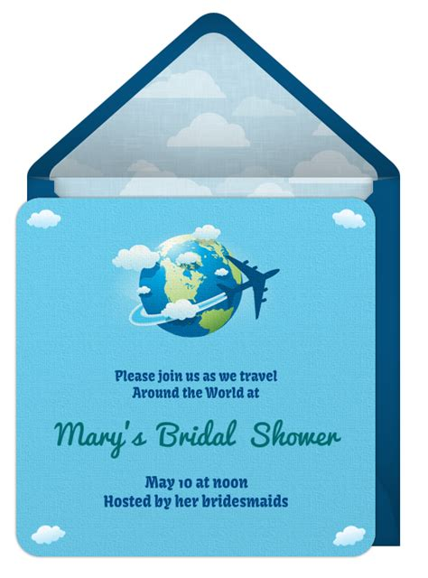 world theme bridal shower