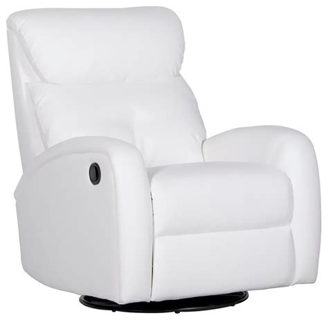 dezmo push button recliner glider arm chair bonded leather