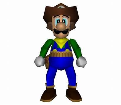 Cowboy Luigi Nintendo Mario Party Shooting Models