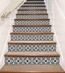 Contre Marche Deco : orn de vinyl tile panneau stickers pour escaliers nous appelons celui ci le deco maison esp ~ Dallasstarsshop.com Idées de Décoration