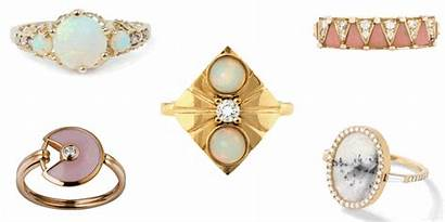 Rings Opal Engagement Unique Ring Non Diamond