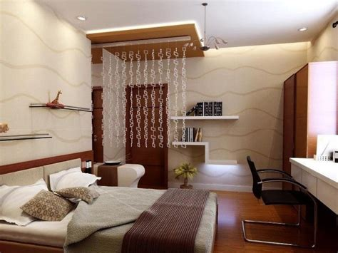 Lovely Small Bedroom Design With Remakable White Ceiling