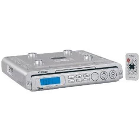 under kitchen cabinet radio cd player under the cabinet kitchen cd player w am fm radio silver