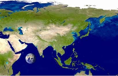 Asia Satellite Mapa Map Satelital Maps Seen